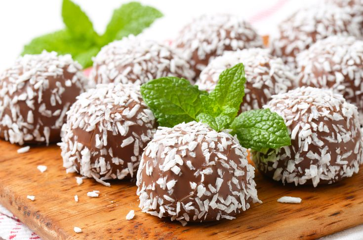 Chocolate Coconut Truffles as part of our Paleo Valentine's Day Desserts Neapolitan Trifecta!