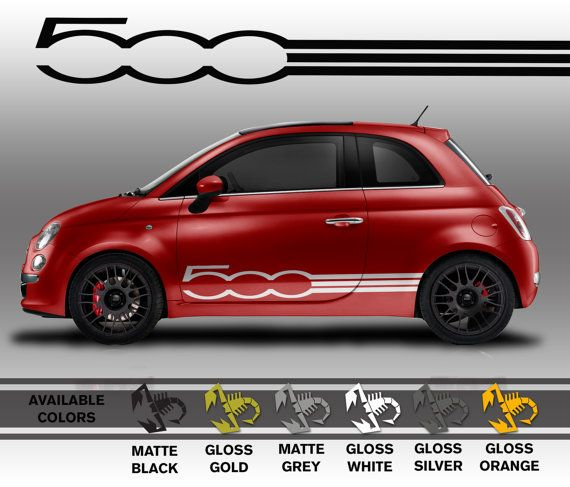 Professionally made fiat 500 decals die cut vinyl by for Decoration murale fiat 500