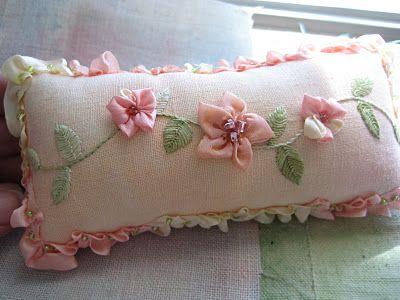 Ribbon embroidery excelente opcion para el dia de las madres