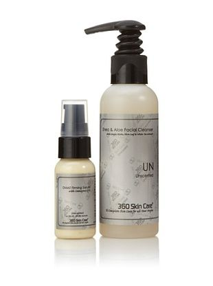 360 Skin Care Cleanser and Serum Duo, Unscented