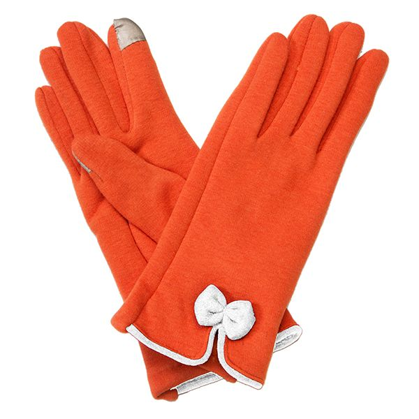 Bow Gloves-Orange/White - Occasionally Made - Classic Gifts with a Trendy Twist!