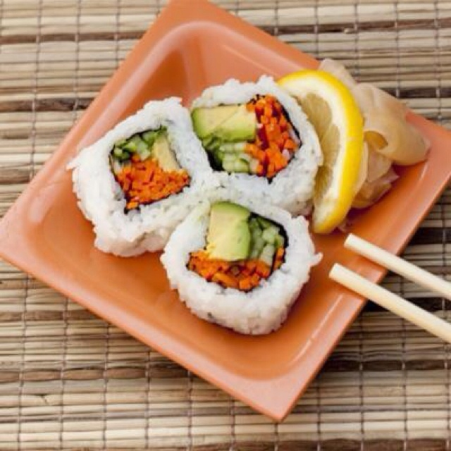 Vegetable sushi... | potential deliciousness | Pinterest