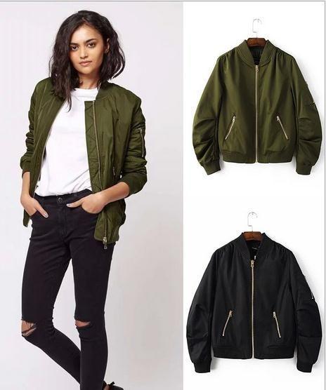 6bd8a18a9 Winter Flight army green bomber jacket women jacket and women's coat ...