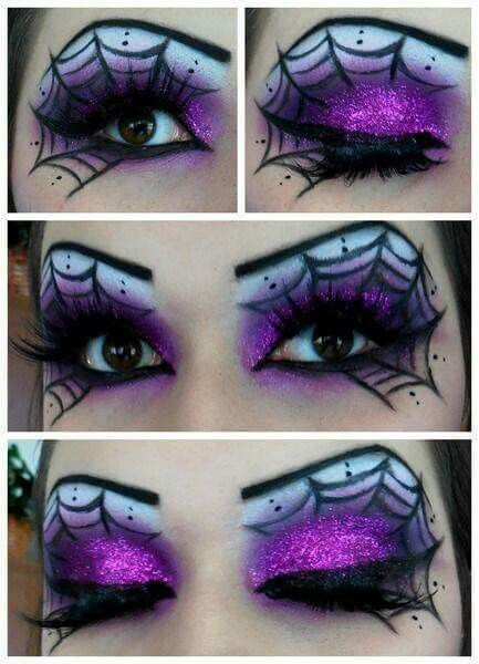 Beautiful eye makeup for Halloween