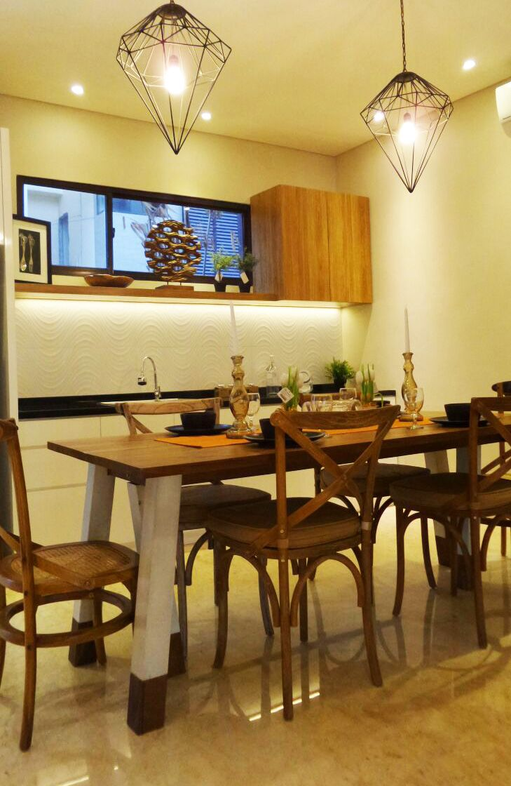 CoastaVilla's Ancol Dining Room, Interior Design & Lighting By Casa Dekora, Jakarta Indonesia