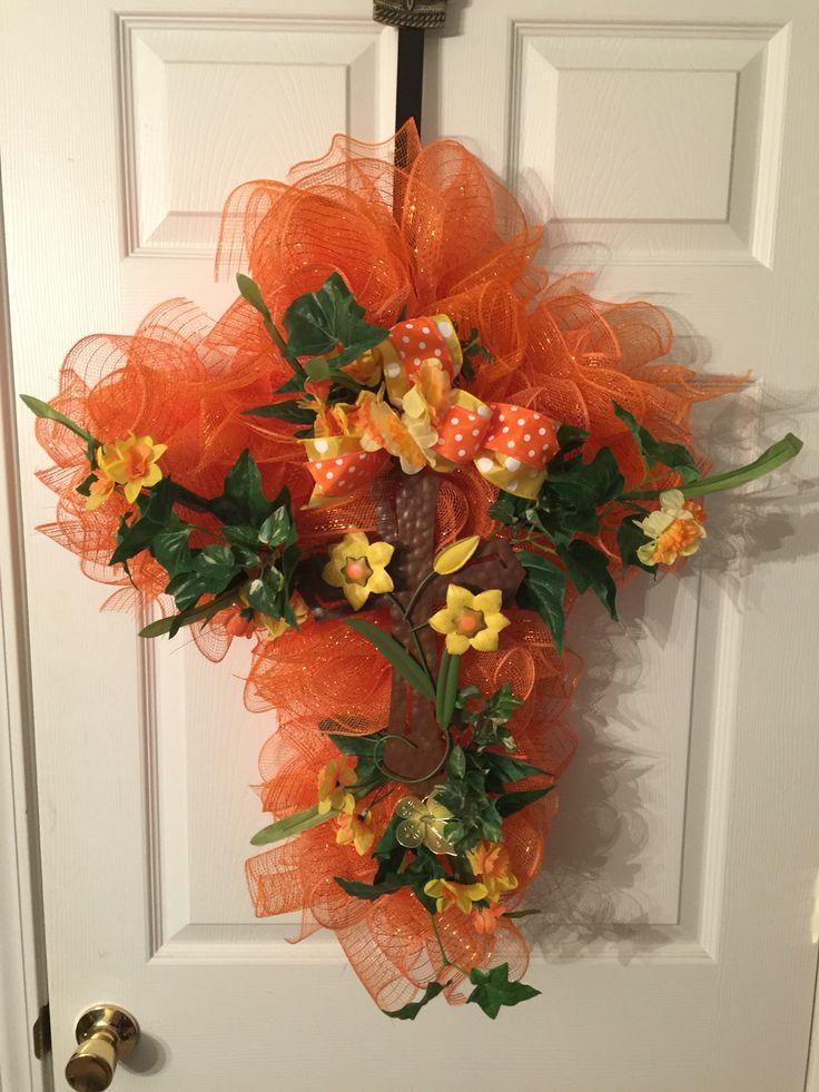 Easter Cross By Wreathsbymonica CrossWreath IdeasWreaths