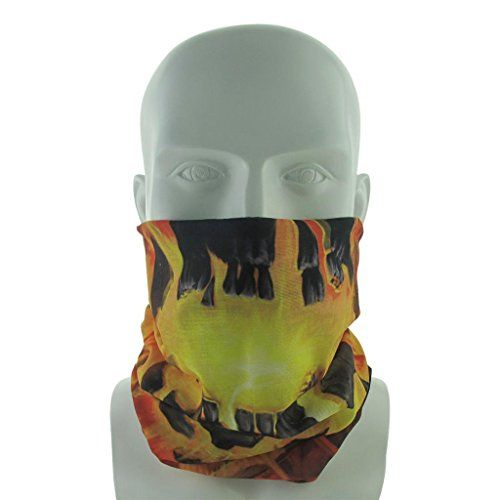 co2CREA Tube Face Mask Muffler MultiFunctional Wind UV proof Face Mask Outdoor Sports Balaclava for skiing snowboarding snow machining hunting and more BURNING SKELETON >>> To view further for this item, visit the image link.(This is an Amazon affiliate link and I receive a commission for the sales)