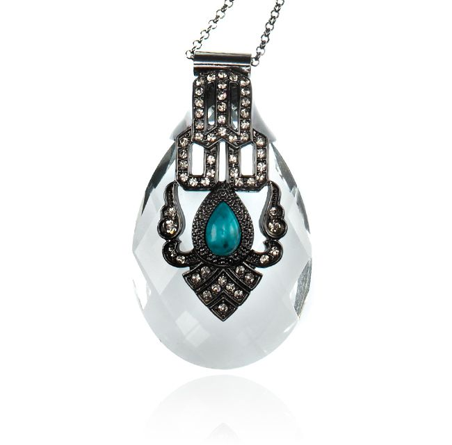 SAMANTHA WILLS - MEET ME THERE NECKLACE - TURQUOISE ... Oooh, I may be powerless to resist this!
