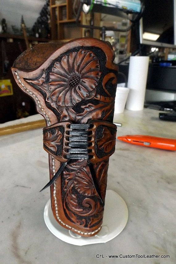 Custom Western Hand Tooled Leather Holster by CustomToolLeather, $159.95