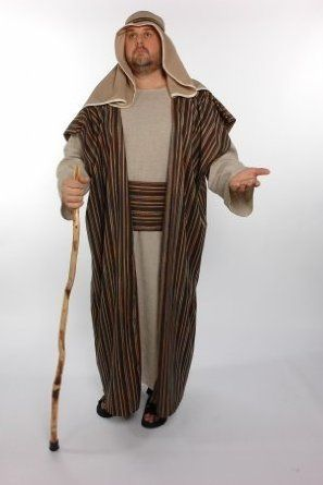 good selection of adult size costumes for Mary and Joseph, shepherd, wise men.