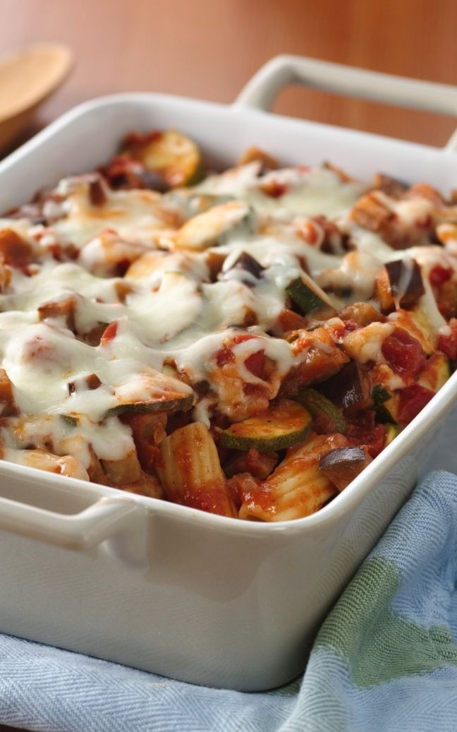 for a spectacular vegetarian main dish? Try this hearty rigatoni bake ...