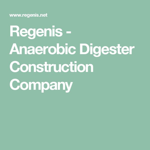 Regenis - Anaerobic Digester Construction Company