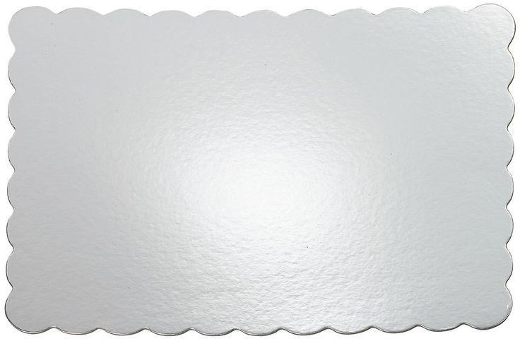 Kuchen Platten 13 X 19 '' Silber Rechteck 4 Pkg Wscp 1169