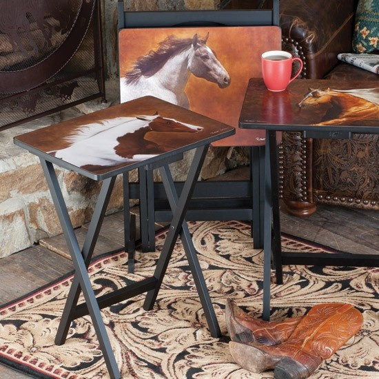 Horse Western Home D Cor Accessories Equestrian Themes: ️ ༻ ༺ Western Horses TV Trays ༻ ༺ ️ ༻ ༺