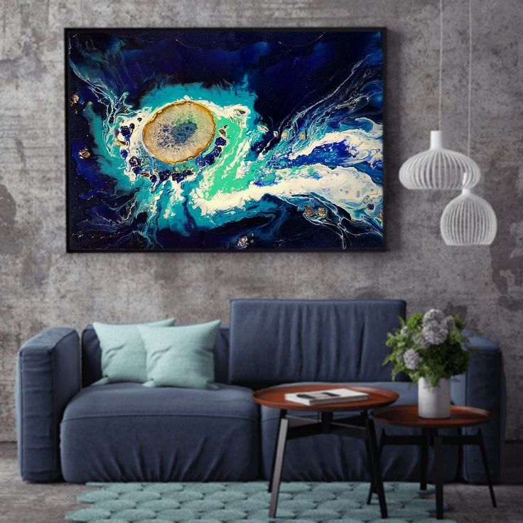 Resin Abstract Art, original painting by Briana Lundman Verf