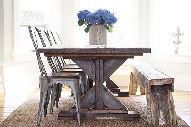 Farmhouse table Farmhouse style Farmhouse Remy chairs restoration hardware