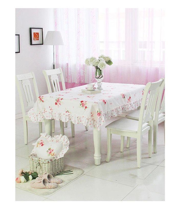 МК Корейский Пастырской оборками ткань MSHK обеденный стол обложка установить скатерть обеденный стол крышка стула скатерть стул подушки