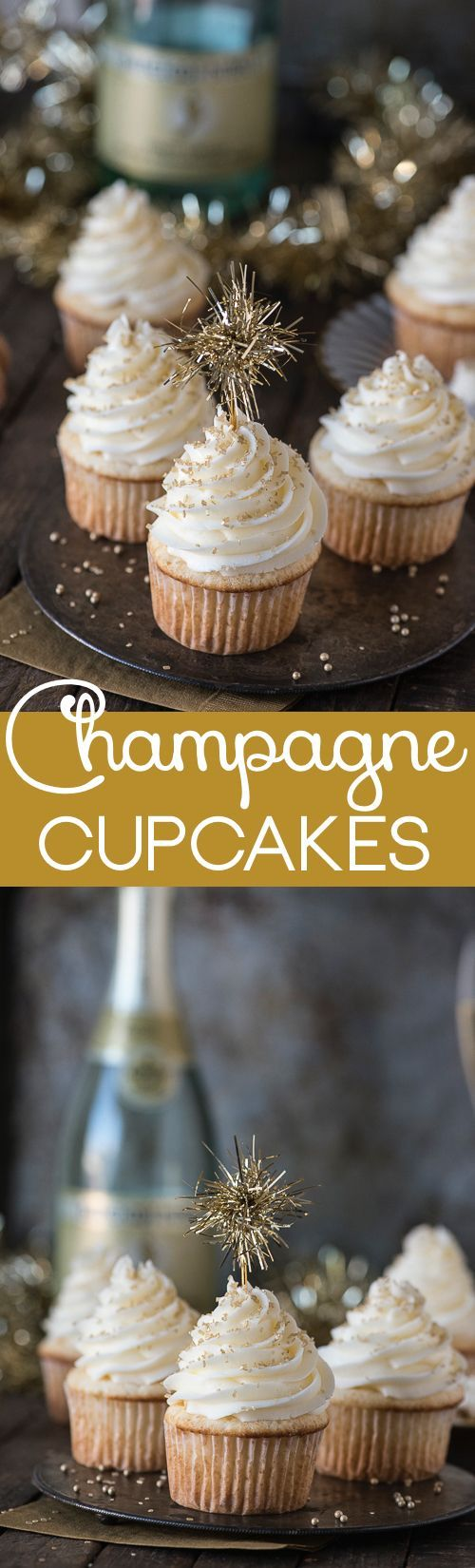 Champagne Cupcakes for New Year's Eve ... YES PLEASE!