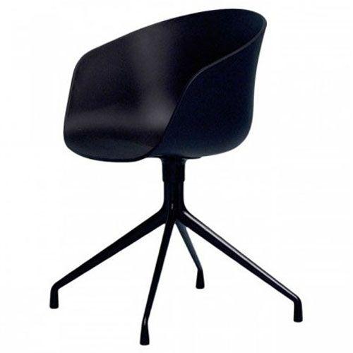 De About a Chair van Hay oogt als een bureaustoel op wieltjes maar is dit niet. De kuipstoel heeft een comfortabel zitoppervlak. Perfect als eetkamerstoel of als stoel om een vergadertafel. Een mooi ontwerp van Hee Welling!