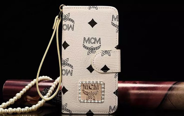 MCM Brand Wallet Phone Cases For iPhone 6/6S Plus White