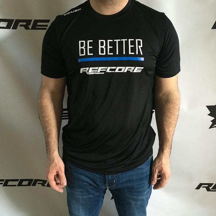 REFcore™ Shirt - Be Better *Limited Edition* The bottom line is, we can always push ourselves to Be Better.  #refereeapparel #refswag #referee #hockey #hockeyapparel #ref #hockeyref #hockeyreferee #refcore #bebetter