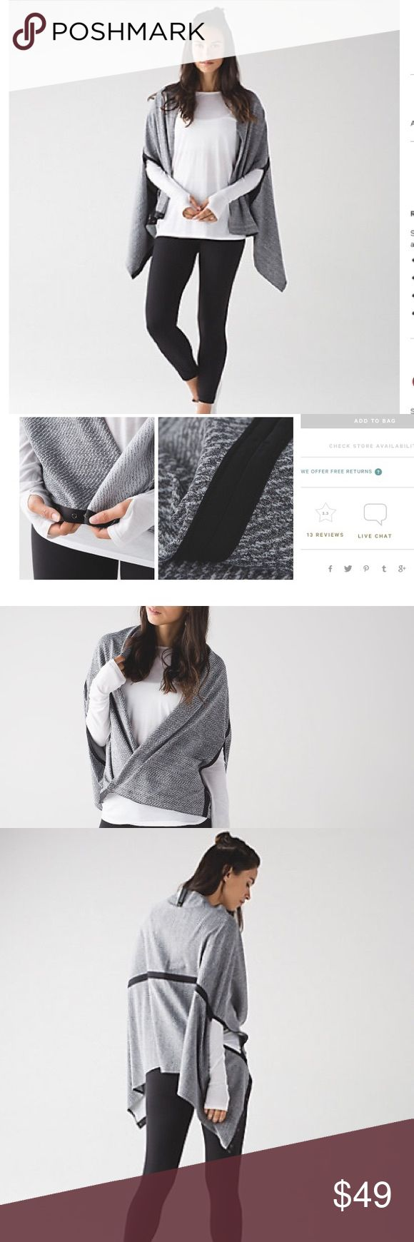 NWT Lululemon Vinyasa Wrap Wear it multiple ways! Brand new with tags!! Firm unless bundled. lululemon athletica Accessories Scarves & Wraps