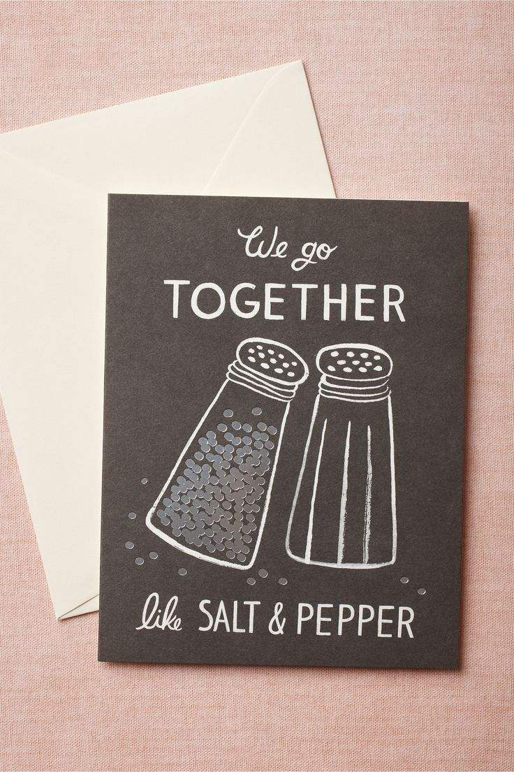 We Go Together Card from BHLDN