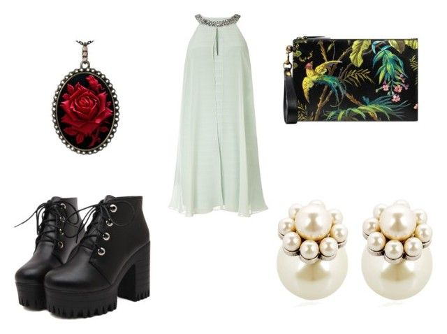 """""""16"""" by drile on Polyvore featuring Adrianna Papell, Gucci and Mawi"""