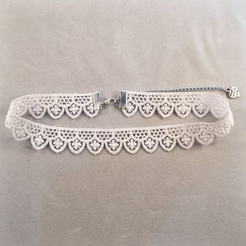 White Lace Choker - Deer Designs