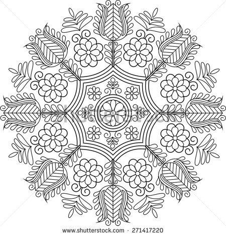 Beautiful folk art motif