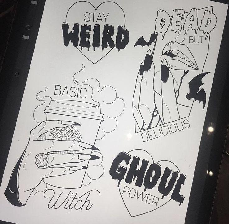 Halloween 2020 Body Under Sheet Tattoo Flash Drawing Temp Tattoo in 2020   Tattoo flash sheet