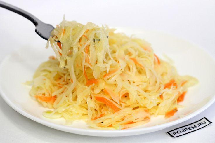 Салат из белокачаной капусты и моркови