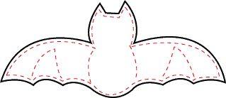 Moldes de morcegos para eva, feltro ou Halloween dia das bruxas - ESPAÇO EDUCAR