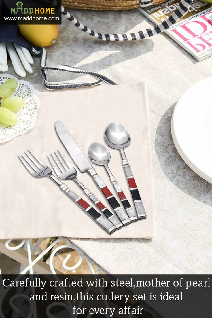 Share Your Meal With Those You Care About!!  #HomeDecor #MaddHome #CutlerySets  Grab Now @ https://goo.gl/2CGHwn