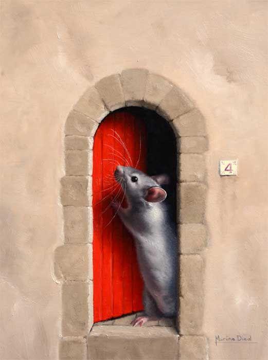 """Knock Knock! Who's there? A new series of 6"""" x 8"""" oil paintings!  Toc Toc! Qui est là? Une nouvelle série de peintures ( 15cm x20cm) !"""