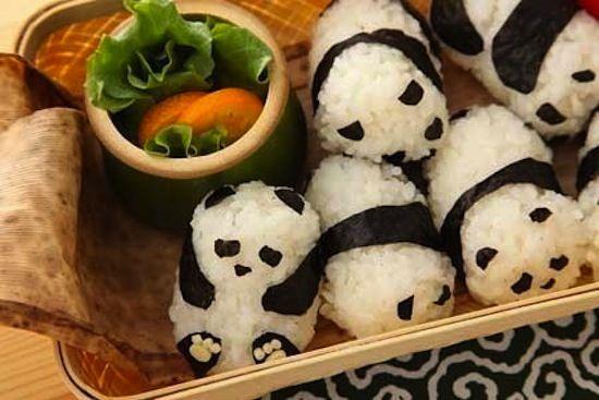 : Rice Ball, Recipe, So Cute, Pandasushi, Food, Panda Sushi