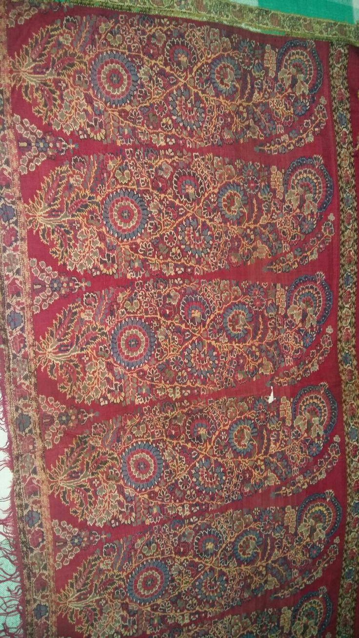Antique jamawar jaipuri pallowdar shawl