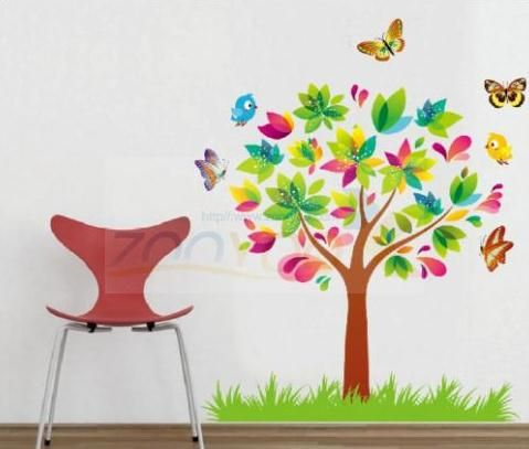 fun childrens mural butterflys - Google Search