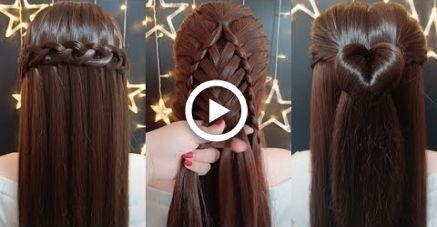 Top 5 tutoriels de coiffures rapides et faciles pour les filles! Des coiffures pour l'école! # 1, #Easy #Girls # ... - #girls # coiffures