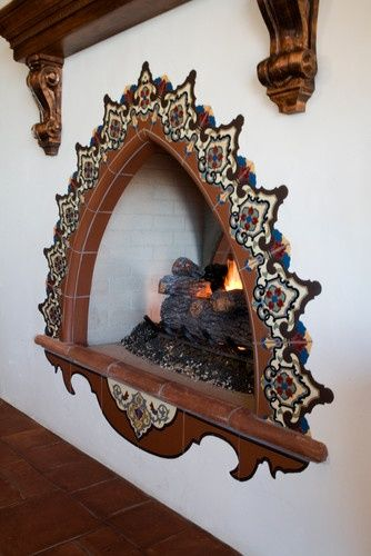 1000 images about outside fireplace on pinterest fire for Spanish style fireplace