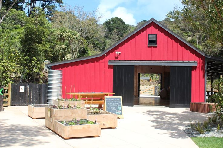 Outside the 'Barn' -- a Customkit building at Wellington Zoo