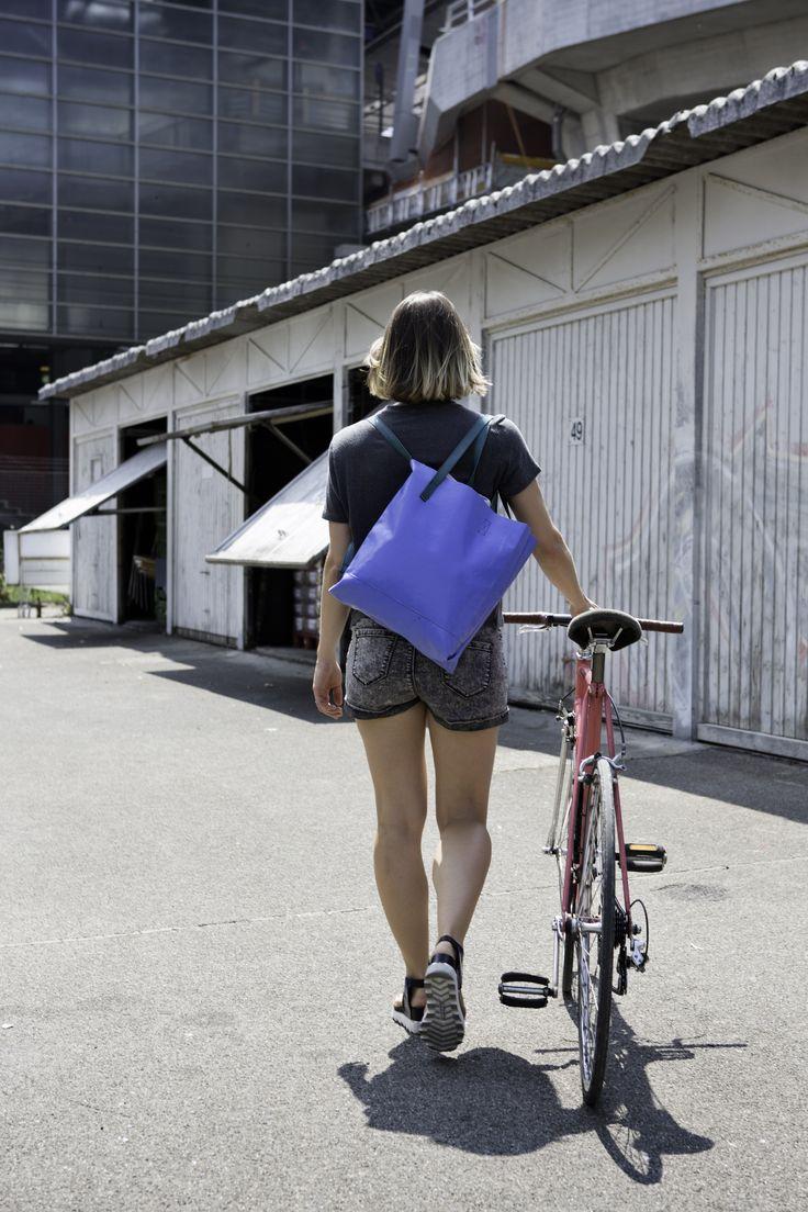 A true Friend when on two wheels frtg recycling bags