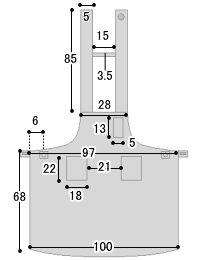 超撥水加工のおしゃれなデザインエプロンのサイズ詳細