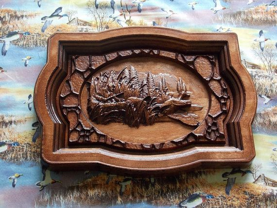 Duck Hunting Wall Hanging. Wood Wall Art Decor. Duck Hunting Decor. Hunter's Gift. Woodworking Home Decor. CNC Relief Carving.Duck Hunter's will love this rustic wall art for their cabin or mancave! You can customize and/or personalize this wall hanging for that upcoming wedding or anniversary, housewarming party or other gift-giving occasion making it truly OOAK!