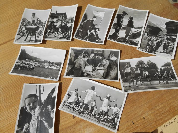 Youngs 10 Black and White Photos Swiss Suchard Chocolate 1939 Bromide Photos Serie XXII Swiss Teens Kids Portraits #sophieladydeparis