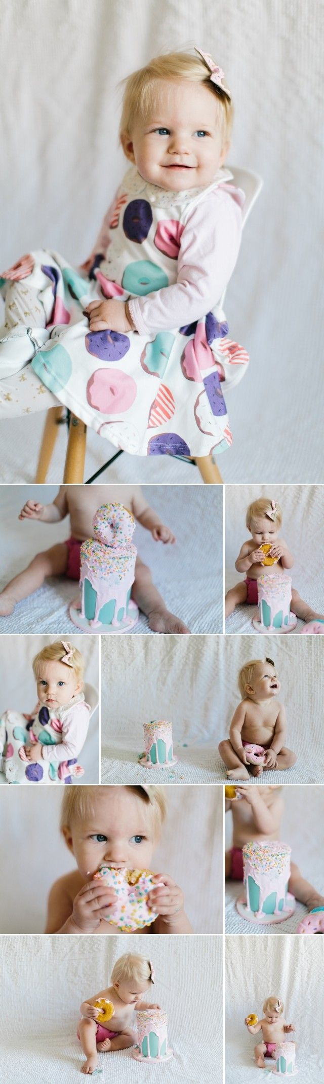 First Birthday Donut Party by Meg Ruth Photo #nationaldonutday she even still gets a smash cake!