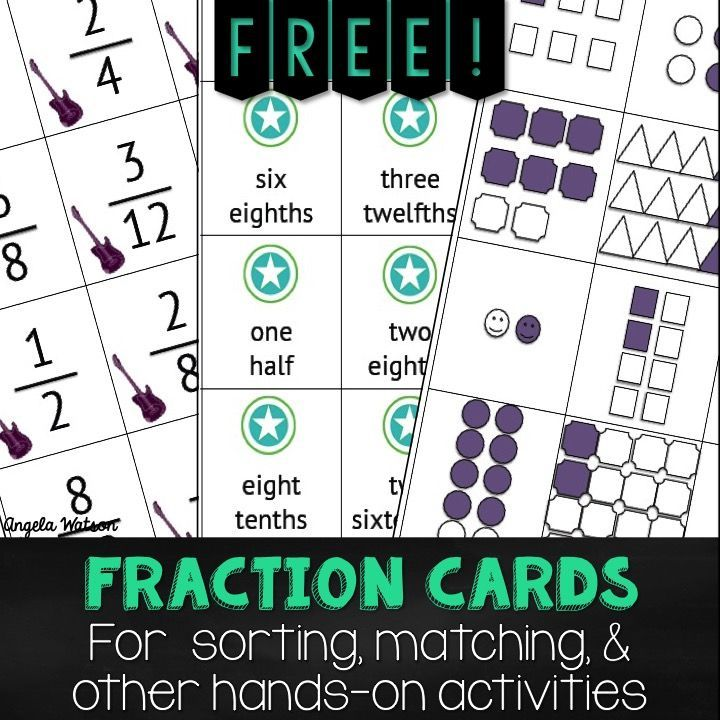 Math partner games for the Common Core PLUS a FREE fraction cards printable! Of all the strategies for teaching math in elementary school, partner games is my favorite because it provides students with a hands-on experience.