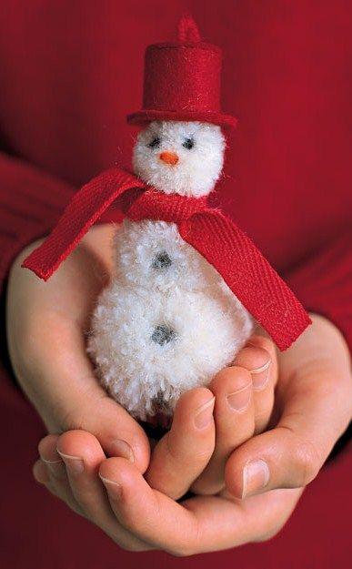 DIY ● Tutorial ● Pom-Pom Snowman
