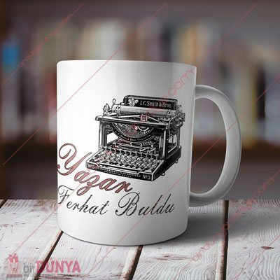 Yazarlara Özel İsimli Kupa Bardak