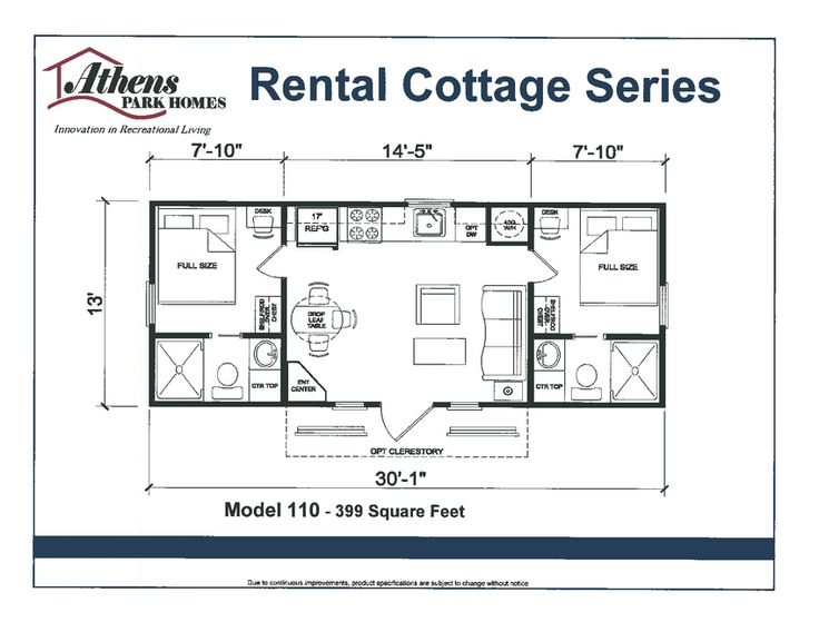 Floor Plan Athens Park Model Home Tiny Home Living